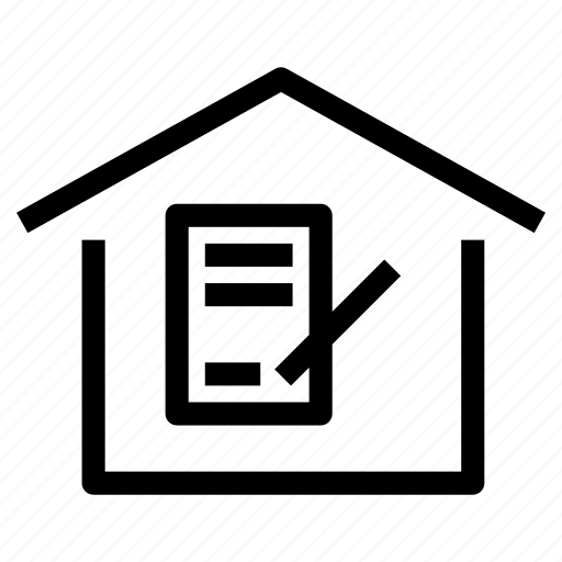 contract, deed, home, house, lease, mortgage, property icon