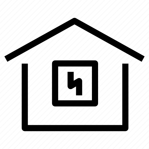 electricity, energy, home, house, installation, power, property icon