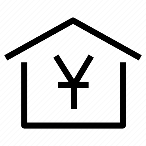 cost, home, house, market, property, real estate, yuan icon