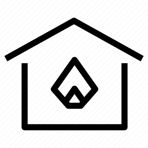 gas, heat, heater, heating, home, house, property icon