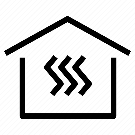 central, energy, heat, heating, home, house, property icon