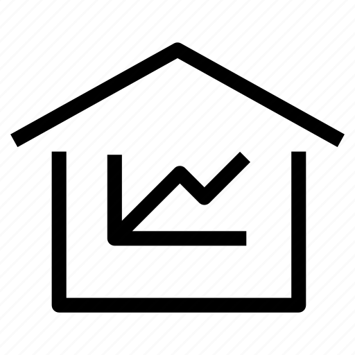 evaluation, home, house, market, property, real estate, value icon