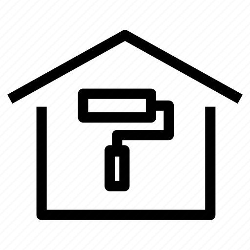 bricolage, home, house, painting, property, refurbish, remodeling icon