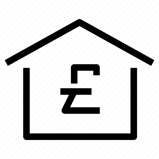 cost, home, house, market, pound, property, real estate icon