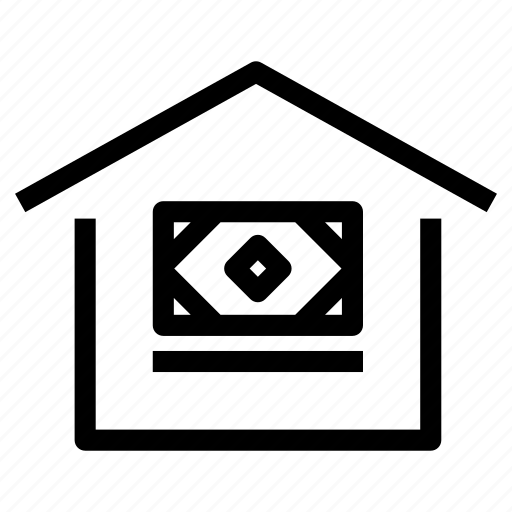 cost, home, house, loan, mortgage, property, rent icon