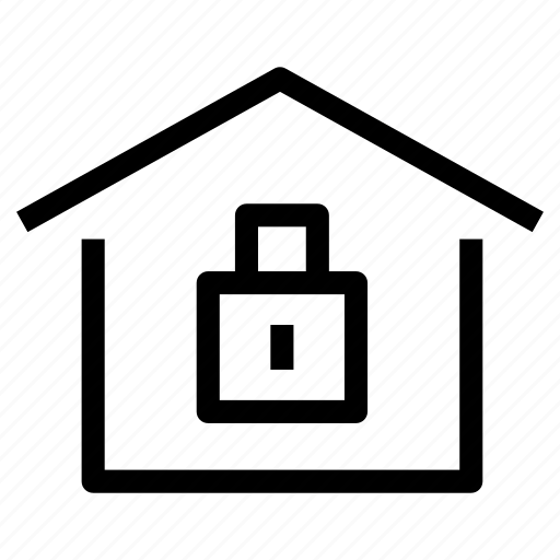 home, house, locked, property, safe, safety, security icon