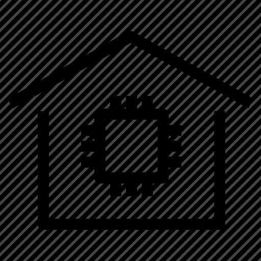 autonomous, home, house, intelligent, property, smart, technology icon