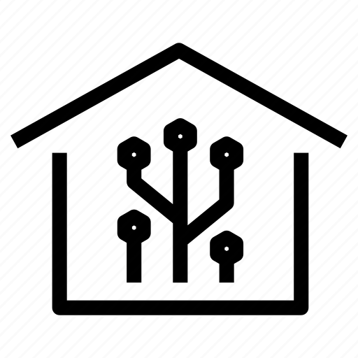 electronic, home, house, intelligent, programmed, property, smart icon