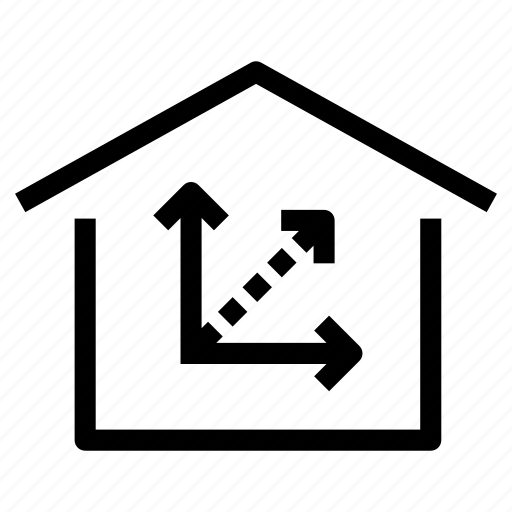 footage, home, house, measurements, measures, property, square icon