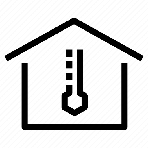 climatized, home, house, insulation, property, temperature, warm icon