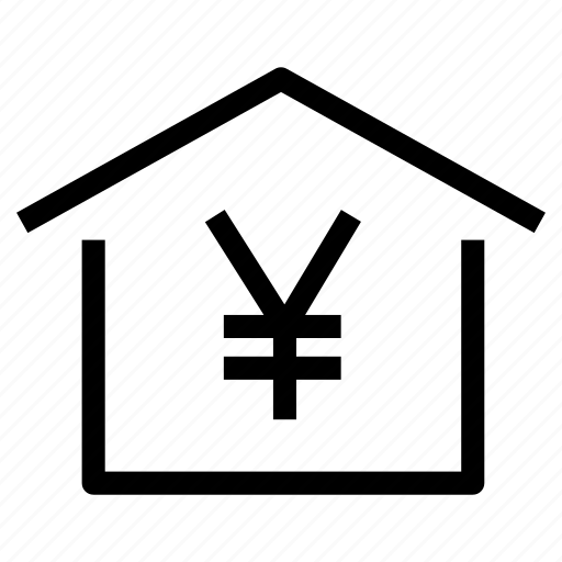 cost, home, house, market, property, real estate, yen icon