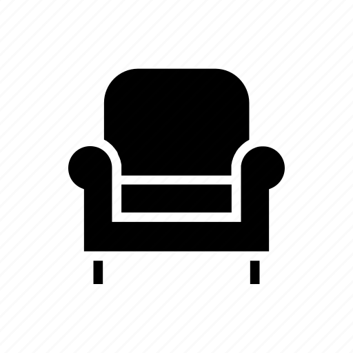 arm chair, couch, decoration, furnishing, furniture, house, living room icon