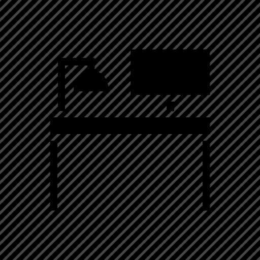 decoration, desk, furnishing, furniture, house, office, writing desk icon