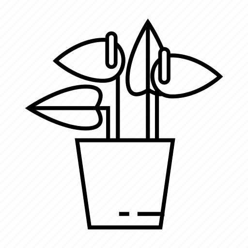 floral, flower, home plant, house plant, lilia, lilly, pot icon