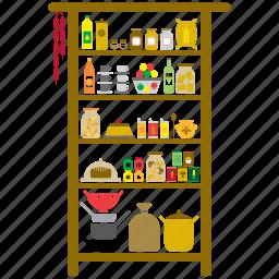 food, house, interior, kitchen, larder, pantry, utensil icon