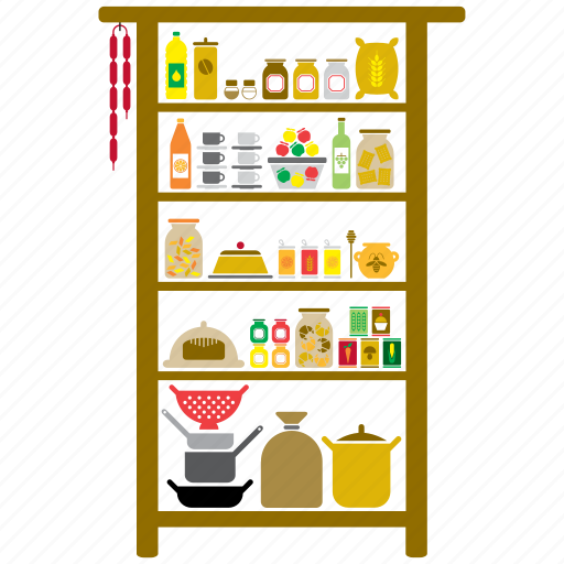 food, house, interior, kitchen, larder, pantry, utensil icon