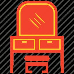draw, furniture, mirror, shelf, table icon