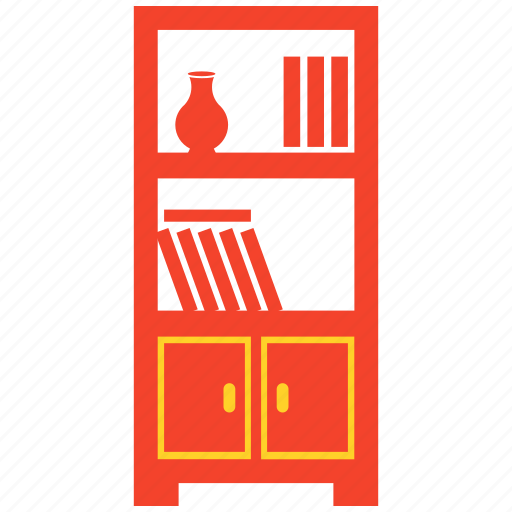 book, furniture, library, shelf, table icon