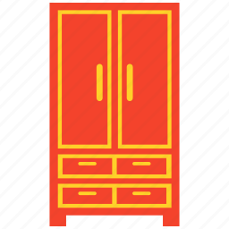 almirah, cabinet, closet, furniture, wardrobe icon