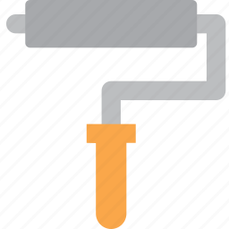 brush, paint, roll, tools icon