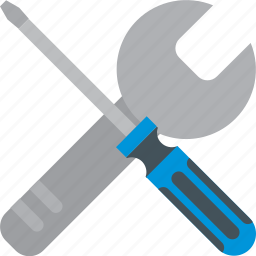 and, screwdriver, tools, tweezer, work, wrench icon
