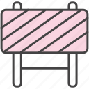 barrier, caution, fence icon