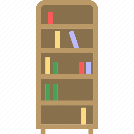 book, books, furniture, household, read, shelf, stand icon