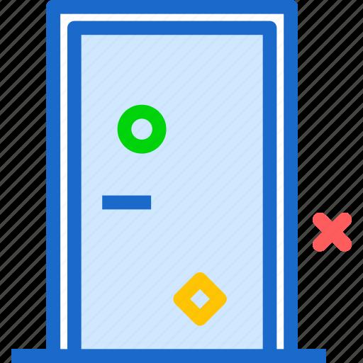 closed, door, entrance, exitdoor icon