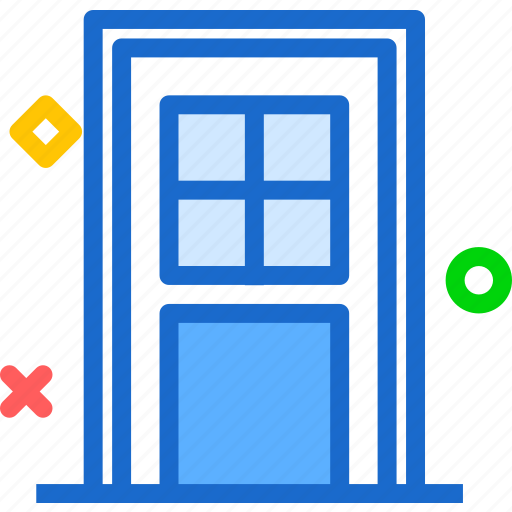 backdoor, entrance, house icon
