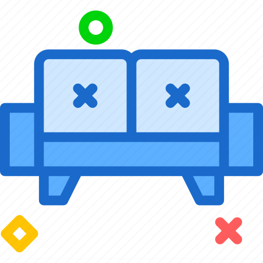 doublecouch, rest, seat, sleep icon