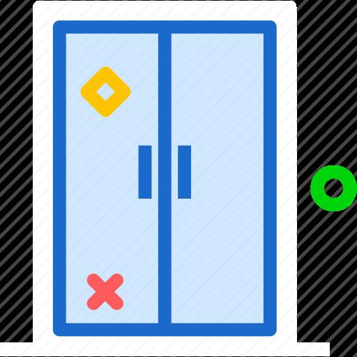door, doubledoor, entrance, exit icon