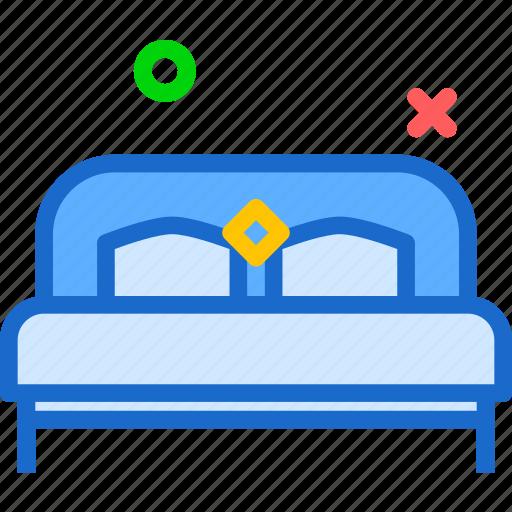 bed, double, night, rest, sleep icon