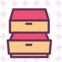 closet, deposit, drawer, furniture icon