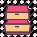 closet, deposit, drawer, furniture icon