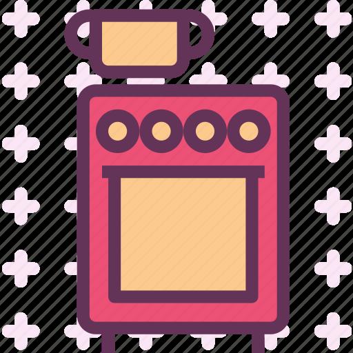 classic, food, kitchen, old, oven, prepare icon