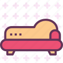gothic, rest, retro, sleep, sofa, vintage icon