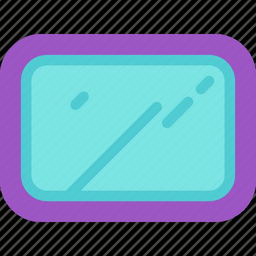 bath, furniture, glass, mirror, reflection, restroom icon