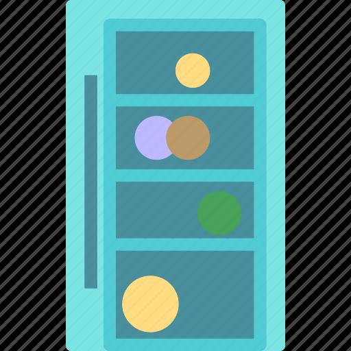 books, furniture, shelf, stand icon