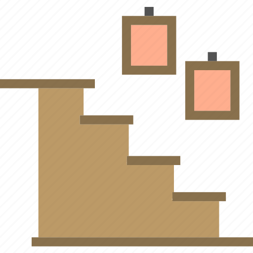 home, house, interior, stairs icon