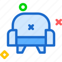 rest, seat, sleep, sofa, throne icon
