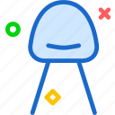 chair, modern, rest, seat icon