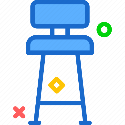 chair, rest, seat, tall icon