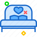 bed, love, night, rest, sleep icon