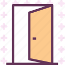 door, entrance, exit, opendoor icon