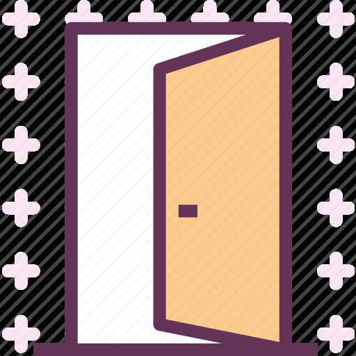 door, entrance, exit, opendoor icon