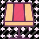 closet, decor, furniture, interior, light, stand icon