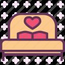 bed, love, night, rest, sleep icon