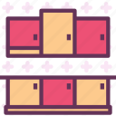 cabinets, furniture, kitchen icon