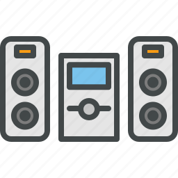 ipod, mp3, music, speakers icon