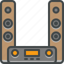 hifi, speakers, stereo icon